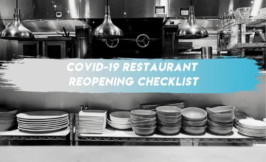 COVID-19 restaurant reopening checklist