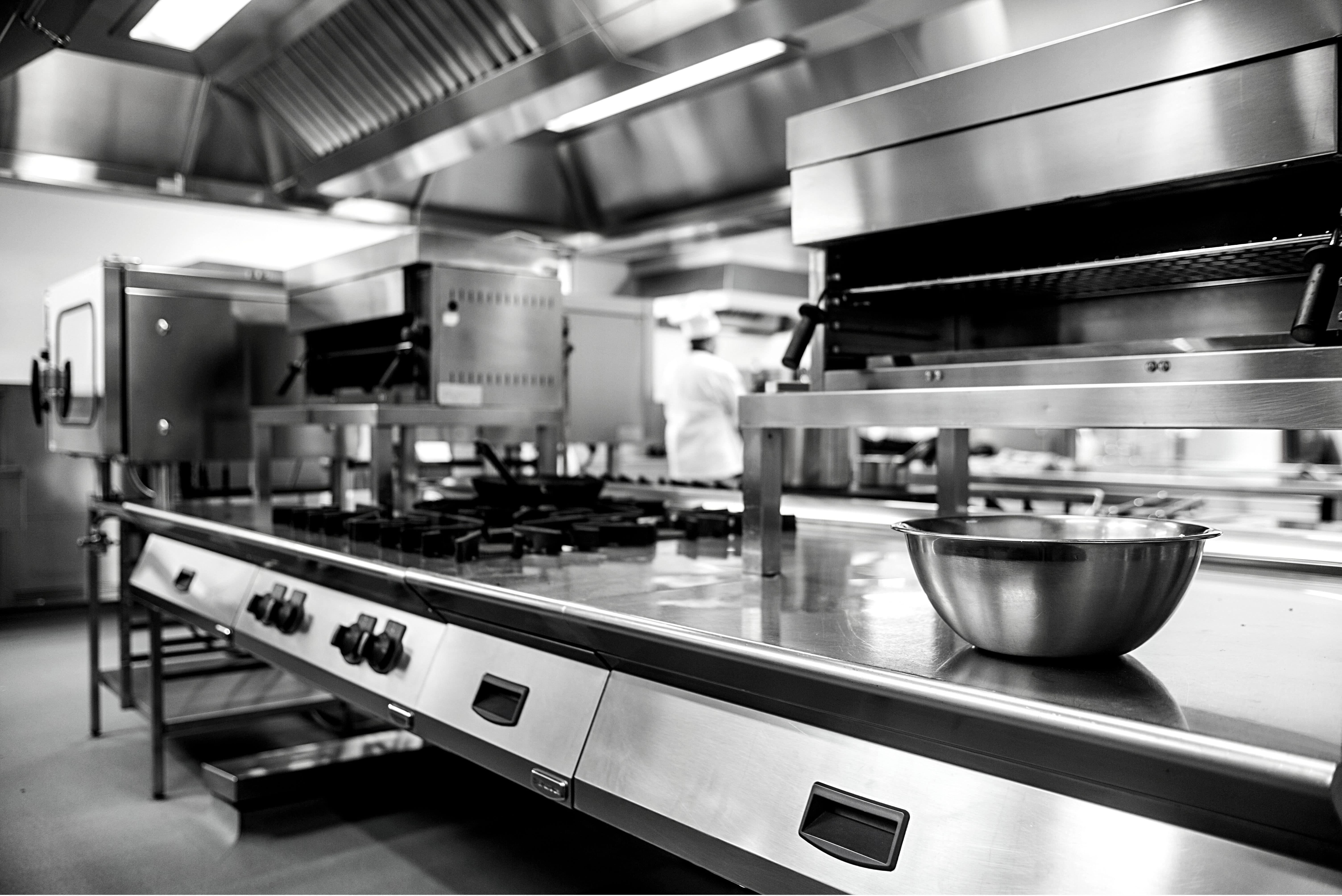 Interior of Restaurant Kitchen