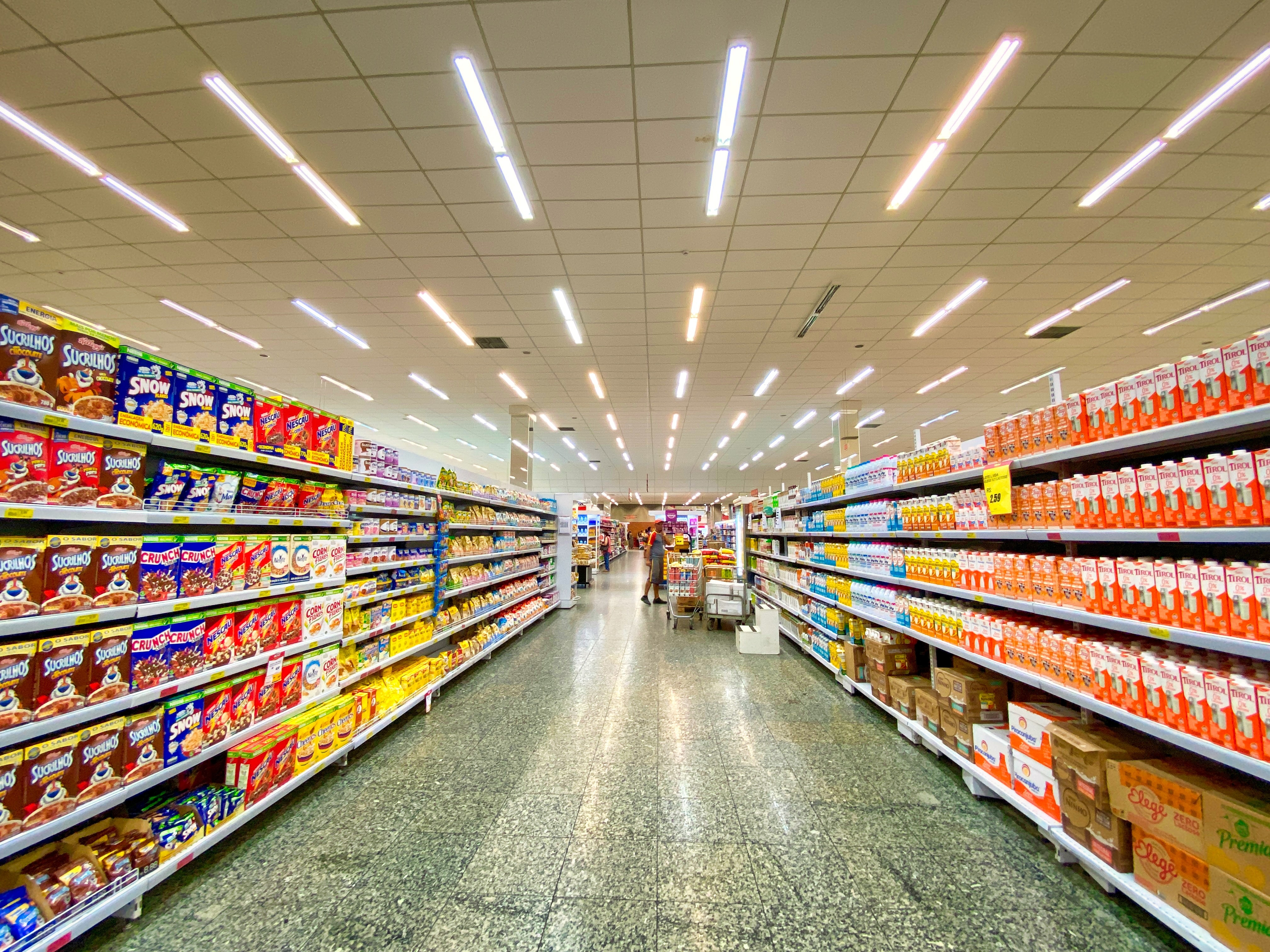 Grocery Store dry goods aisle